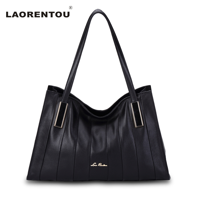 LAORENTOU Ladies Hand Hags Genuine Leather Bags For Women Cow Leather Shoulder Bag Lady's Bag Made Of Genuine Leather Handbag N5