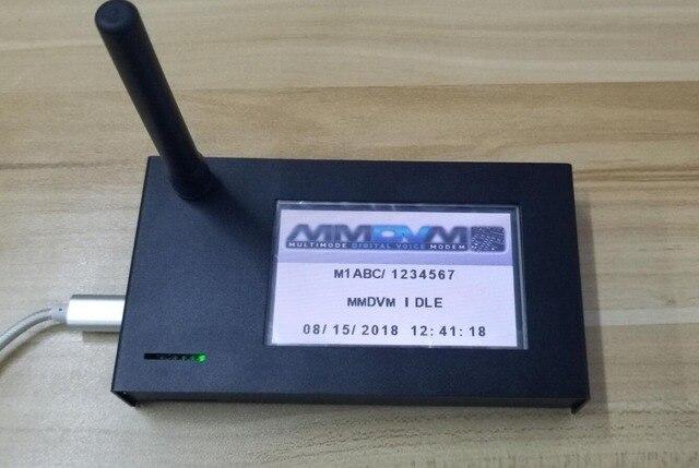 نقطة اتصال منتهية 2019 V1.7 MMDVM + التوت بي زيرو + 3.2 بوصة LCD + هوائي + بطاقة SD 16G + حافظة معدنية P25 DMR YSF
