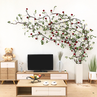 Artificial Rose Rattan vine decoration Wedding Arch DIY decoration home hotel Hanging Garland flowers party event wall decor