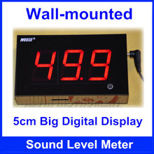Free Shipping Wall-mounted Digital Sound Level Meter Decibel Logger Tester Wall mounted   5cm three digital display
