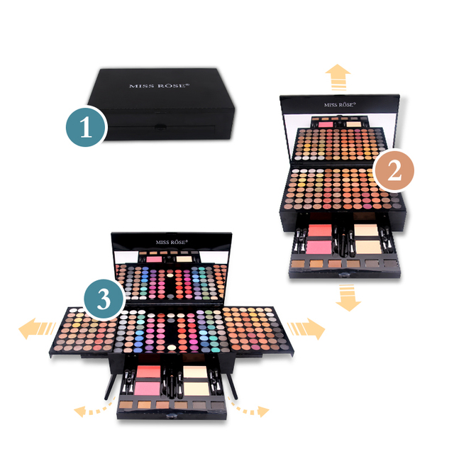 Miss Rose 190 Colors Palette Makeup Set 1