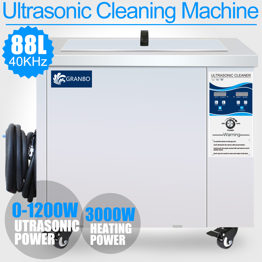 Ultrasonic Cleaner 88L 1200W Adjustment 40KHZ Industrial Transducer Timer Heater Remove Oil Rust Cleaning Machine Car Hardware цена