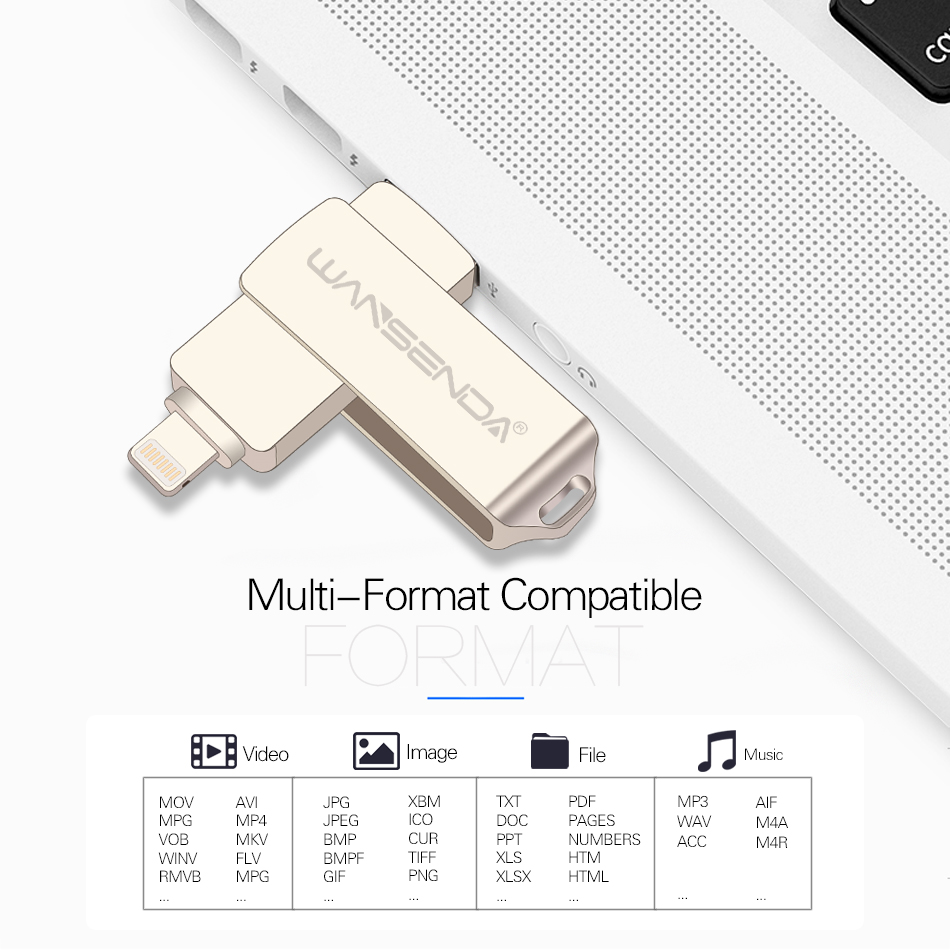 Impartial Ightning Otg Flash Drive 8gb 16gb 32gb 64gb 128gb For Ios 10 And Usb For Computer Pc For Tablet Otg Pendrive For Iphone U Disk Computer & Office External Storage