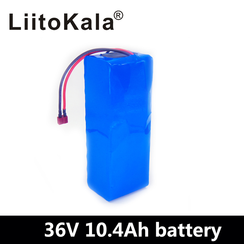 LiitoKala 36V 10.4ah battery 500W 18650 lithium battery pack With bms Electric bike battery with PVC case for electric bicycleLiitoKala 36V 10.4ah battery 500W 18650 lithium battery pack With bms Electric bike battery with PVC case for electric bicycle