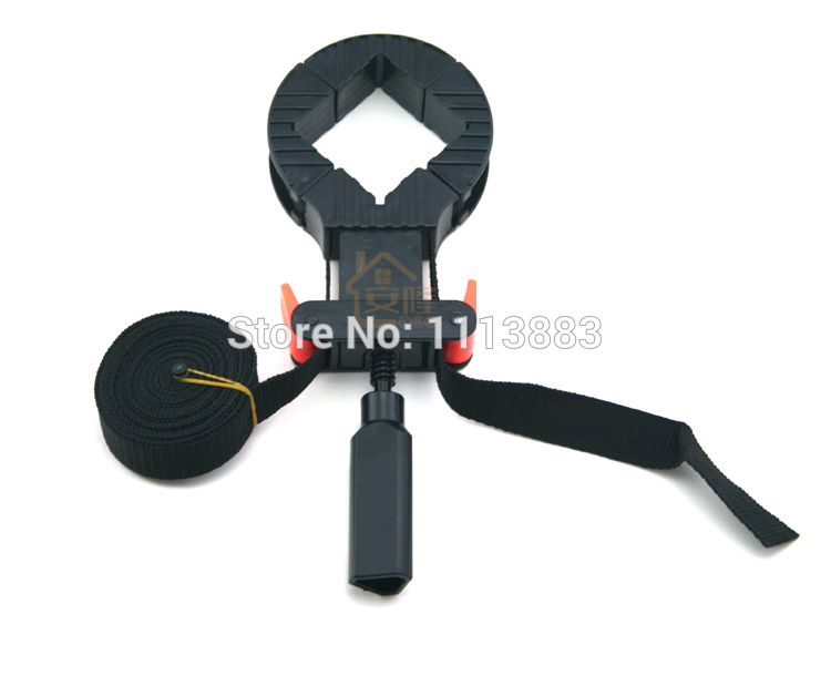 Multi function Binding Belt Clamp Quick Adjustable Band Clamp Angle Clip With 4M Long Belt Non Skip TPR Handle Woodworking Tool in Clamps from Home Improvement