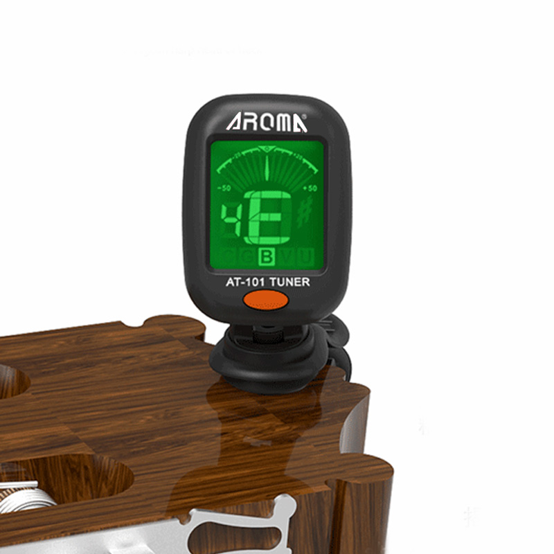 AT-101 AT-01A Digital Clip-on Electric Guitar Tuner Foldable Rotating Clip High Sensitivity Ukulele Guitar Parts & Accessories(China)