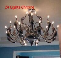 Shocker 24 Head lamparas de techo White Ceiling Chandeliers Luxury Swan Abajur Lustres de sala Kitchen Fixture LED Bulb 110 240V