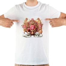 birthday present ONE PIECE Funny cartoon The straw hat Pirates Creative Design Art printing Summer T-shirt