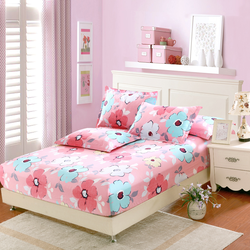 Pink flowers bedding set twin full queen king size fitted sheet bedsheet duvet cover pillowcases 4pcs set cotton Home textile 36Pink flowers bedding set twin full queen king size fitted sheet bedsheet duvet cover pillowcases 4pcs set cotton Home textile 36