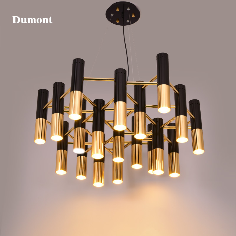 Delightfull ike black and gold metal aluminum tube for Lustre metal noir