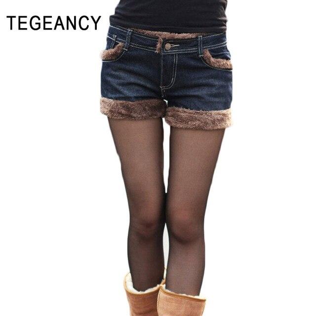 cb9d385d8bc Female Autumn Winter Woolen Shorts Women Slim Cuffed Denim Shorts Ladies  Big Size XXL Fashion Vintage