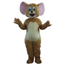 2 pcs Tom Cat and Jerry Mouse mascot costume adult size Tom Cat and Jerry Mouse mascot costume for Halloween Carnival party