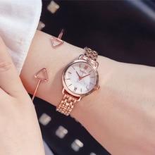 купить Marble Watch Women Luxury Steel Women Bracelet Watches Fashion Rose Gold Starry Quartz Crystal Wrist Watch relogio feminino 2019 по цене 262.67 рублей