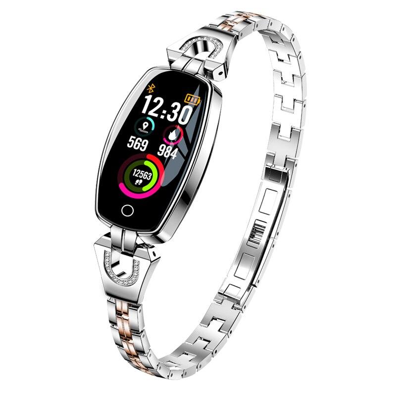Dames Fitness montre intelligente femmes mode fréquence cardiaque pression artérielle podomètre étanche sport montre Bracelet pour Android iPhone-in Montres sport from Montres    3