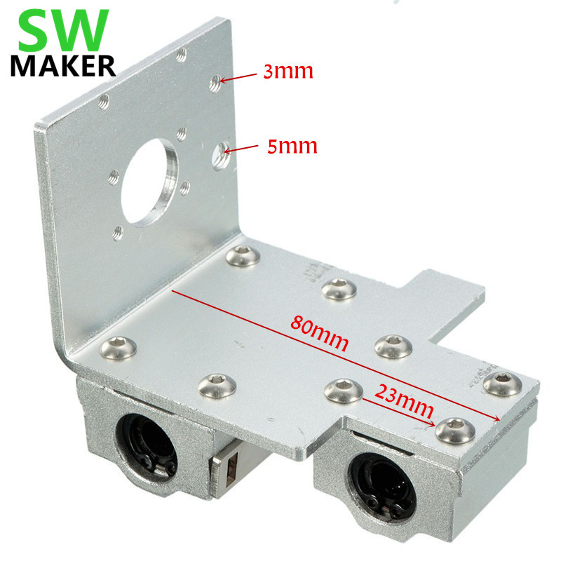 SWMAKER 3D imprimante pièces en alliage d'aluminium Reprap Prusa i3 axe X tête d'impression X chariot d'exturder en métal