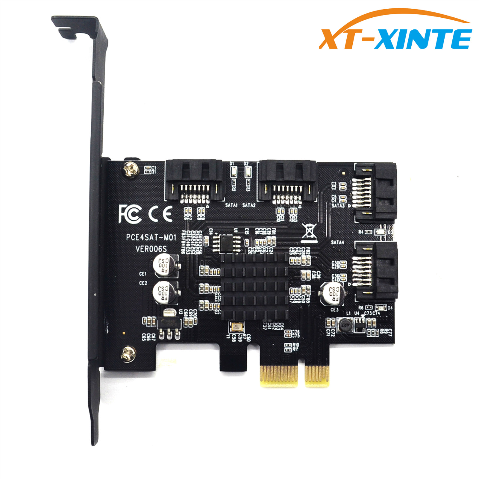 все цены на PCI-e to SATA 3.0 4 Ports 6G Expansion Controller Card PCIE SATAIII 3.0 Converter Adapter Bracket for HDD SSD Marvell 88SE9215 онлайн
