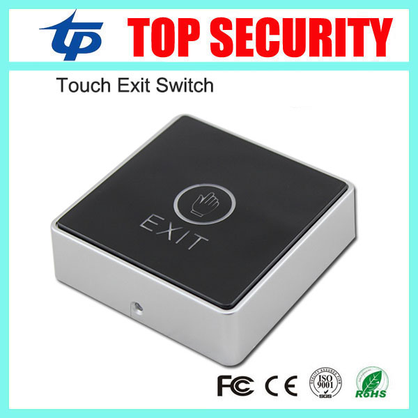 DHL free shipping 10pcs touch exit button exit switch release push switch infrared bule backlight for access control system E11 diysecur infrared contactless bule backlight touch exit button door release switch for access control free shipping