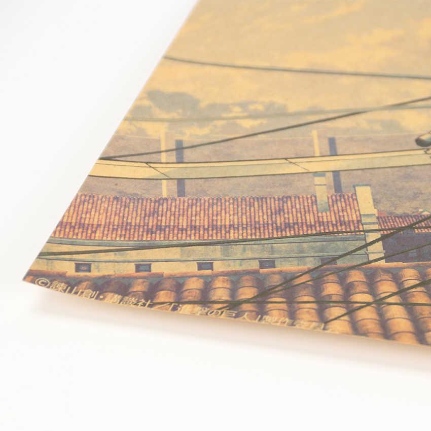التعادل LER هجوم على تيتان نمط اليابانية الكرتون Comic كرافت ورقة ملصقات جدار ملصق شريط الرجعية اللوحة الزخرفية 51.5x36 سنتيمتر