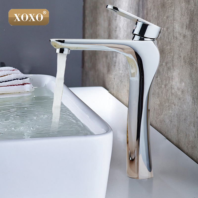 Deck Mounted Double Handle Bathroom Sink Mixer Crane Hot and Cold Water Taps 3 Pieces Square