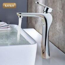 XOXO современные товары для ванной комнаты хромированный кран холодной воды для умывальника смеситель, одной ручкой водопроводный кран 83007