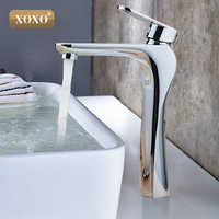 XOXO Modern Bathroom Products Chrome Finished Hot and Cold Water Basin Faucet Mixer,Single Handle water Tap 83007