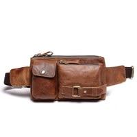 Free Shipping Mens New Genuine Leather Fanny Waist Hip Bum Belt Backpack Clutch Bag Satchel Cross