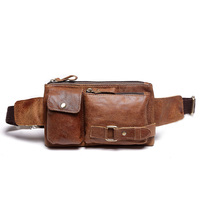Free Shipping Mens New Genuine Leather Fanny Waist Hip Bum Belt Backpack Clutch Bag Satchel Cross