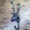 Europa Estilo Rural Vintage ferro fundido de parede roupas gancho gancho gancho decorativo