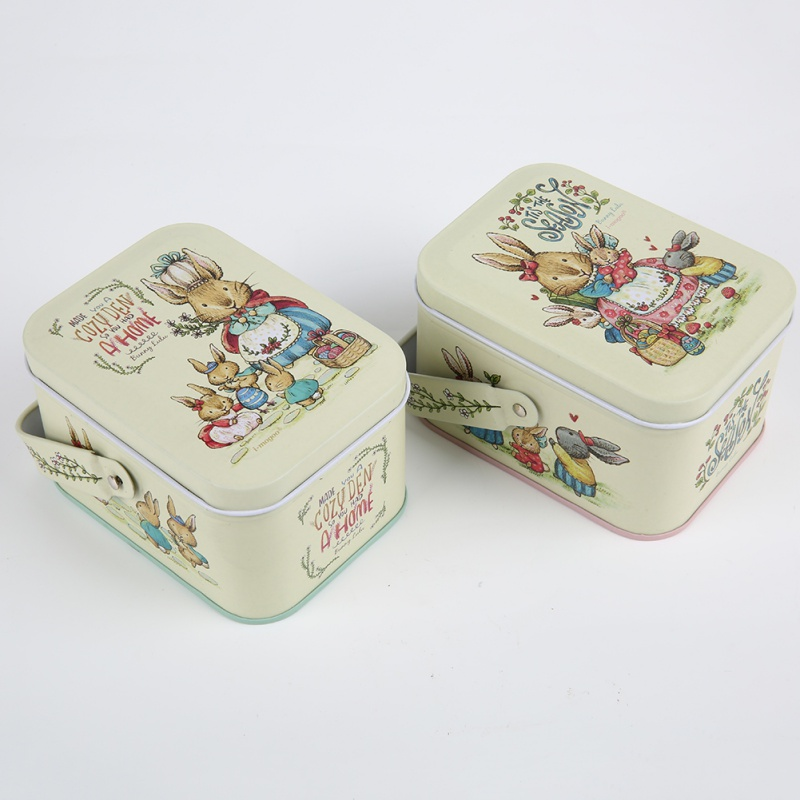 Hot Sale 2018 Rabbit Tin Box Organizer Storage Box Iron Candy Box Pills Case Jewelry Accessory Trinket Gifts Wedding Party
