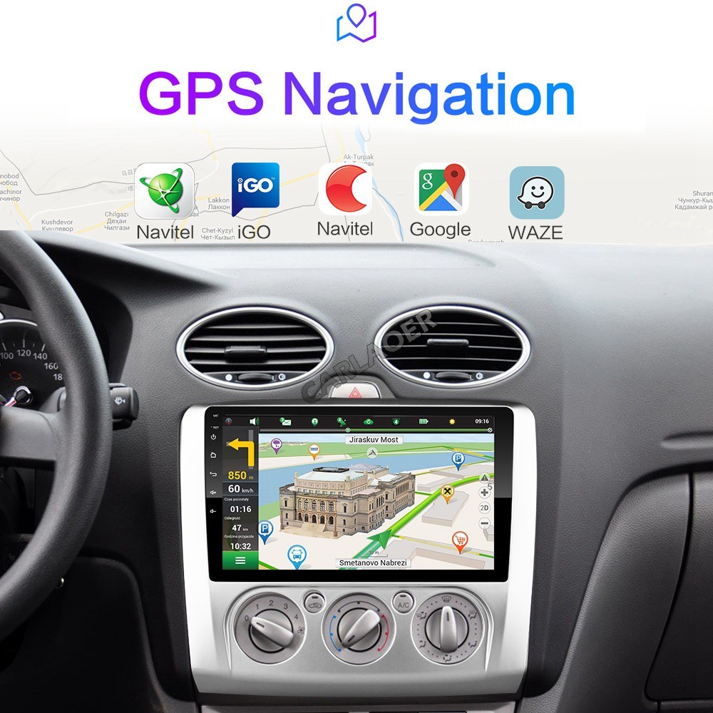 Image 4 - 2 DIN 9 Inch Android 8.1 GPS Navigation Touchscreen Quad core Car Radio For Ford Focus Exi AT2004 2005 2006 2007 2008 2009 2011-in Car Multimedia Player from Automobiles & Motorcycles