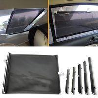 DWCX 58x125cm Car Rollable Restractable Handy Block Cool Shade Window Sun Shade Visor For Ford BMW