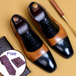 Herren formale schuhe leder oxford schuhe für männer dressing hochzeit männer brogues büro schuhe lace up männlichen zapatos de hombre