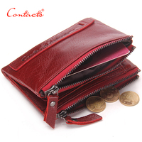 CONTACT S Genuine Leather Mens Womens Luxury Wallets Women S Purse Stock Holder Small Card Holder