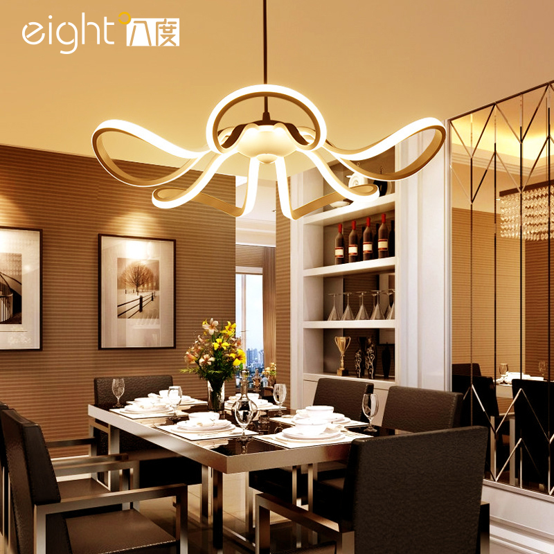 LED Modern restaurant chandelier creative fixtures personality chandeliers living room lighting simple bedroom hanging lights restaurant white chandelier glass crystal lamp chandeliers 6 pcs modern hanging lighting foyer living room bedroom art lighting