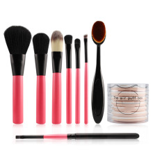 Makeup Brushes Kit Pro Foundation Powder Eyeshadow Eyeliner Concealer Contour Brush+BB Cream Cushion Air Cosmetics Puff Sponge