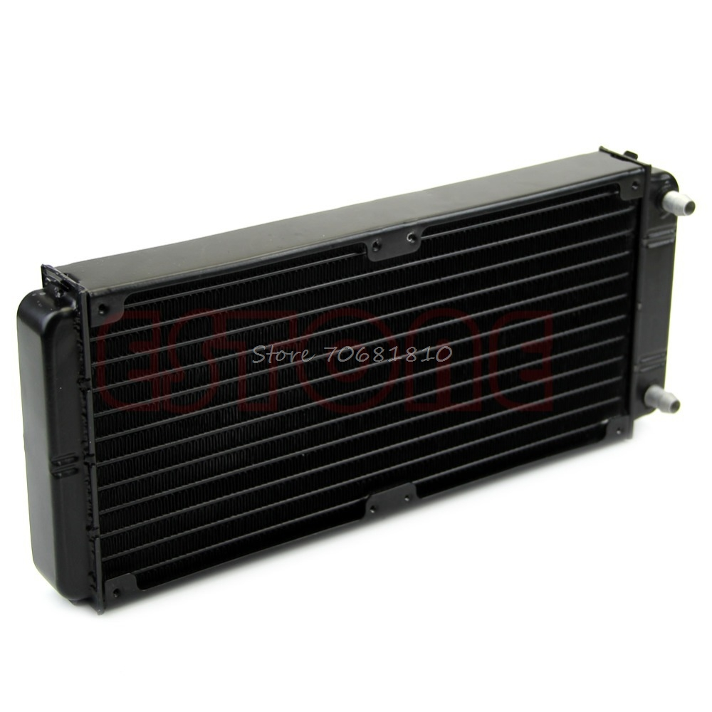 240mm Aluminum Computer Radiator Water Cooling Cooler For CPU LED Heatsink New - Drop Shipping new 41 x 41 x 12mm aluminium water cooling heatsink block waterblock liquid cooler for cpu gpu wholesale drop shipping