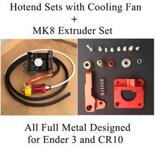Full Metal MK10 Hotend 3D Printer Hot End Kit Ender 3 3D Printer Extruder Part Filament 1.75MM MK8 Nozzel 3D Printer Accessories