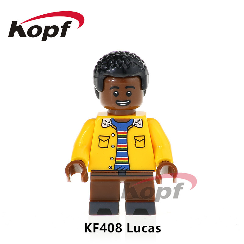Single Sale Super Heroes Stranger Things Figures Lucas Mike Eleven Bricks Action Building Blocks Children Gift Toys KF408 12pcs set children kids toys gift mini figures toys little pet animal cat dog lps action figures