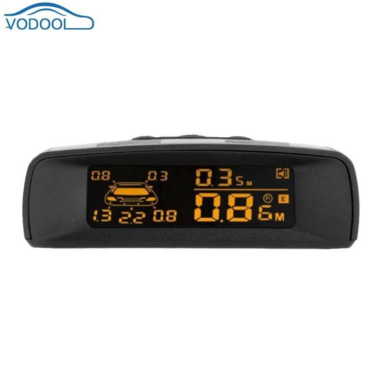 VODOOL LCD Car Parking Sensor Kit 8 Sensors Backlight Rear Reverse Backup Radar Monitor System DC 10V-16V Parking Assistance black parking sensor radar kit dc 12v 24v