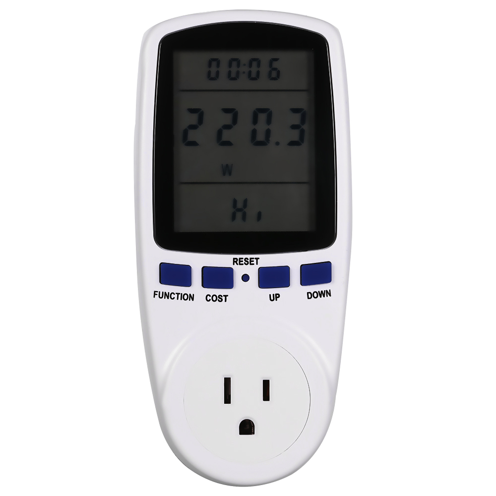 Outlet Wattage Meter : Pin us plug energy meter power watt voltage