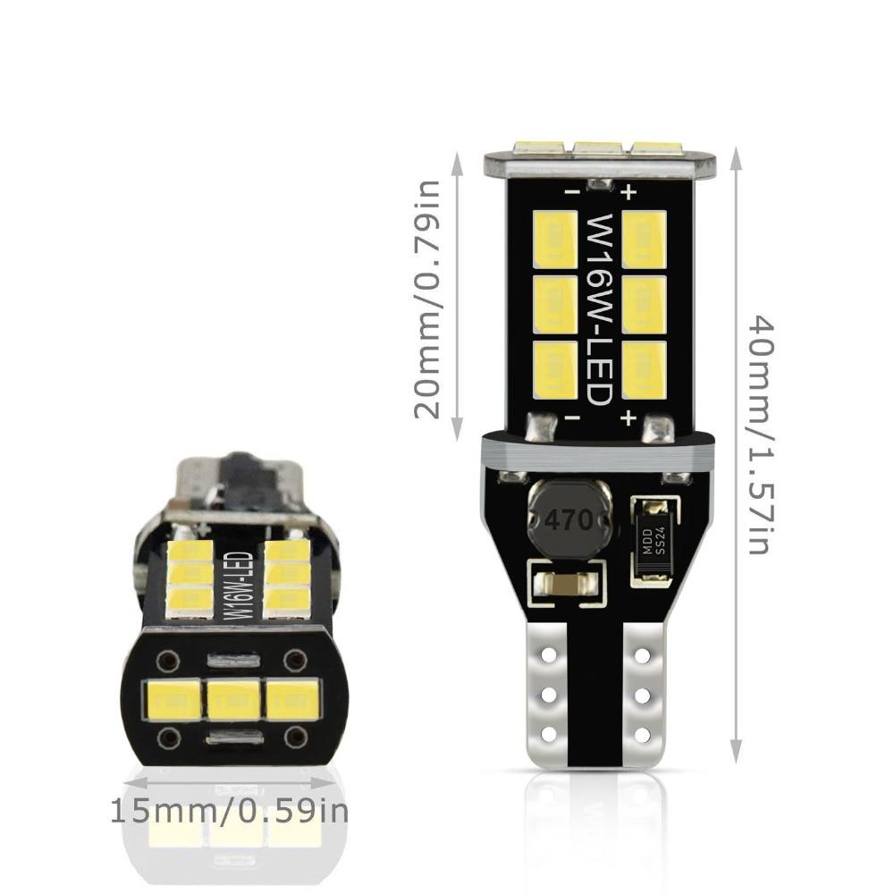 HTB1R9mvbEjrK1RkHFNRq6ySvpXaS 2x W16W T15 LED Bulbs 2835 SMD Canbus OBC Error Free LED Backup Light 921 912 W16W LED Bulbs Car Reverse Lamp Xenon White DC12V