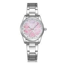 Nuevo lujo Rose oro pulsera de acero Relojes de pulsera para la muchacha Relojes Masculino Relogio del reloj de cuarzo ocasional Montre Homme