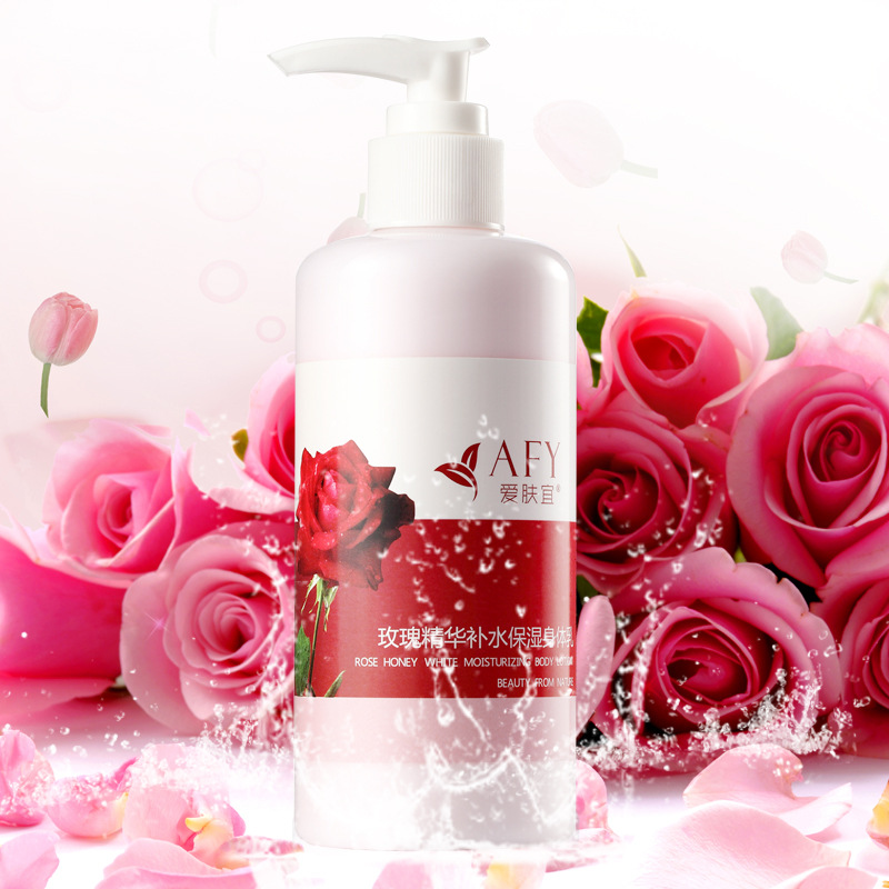 2017 Afy Rose Skin Whitening Body Lotion Body Moisturizing Anti-wrinkle Body Skin Care Cream Rose Fragrance Anti-Dry skin
