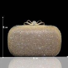 Luxus Kristall Bogen Verschluss Strass Frauen Geldbörsen Abend Handtaschen Gold Silber Kostenloser Versand 2103