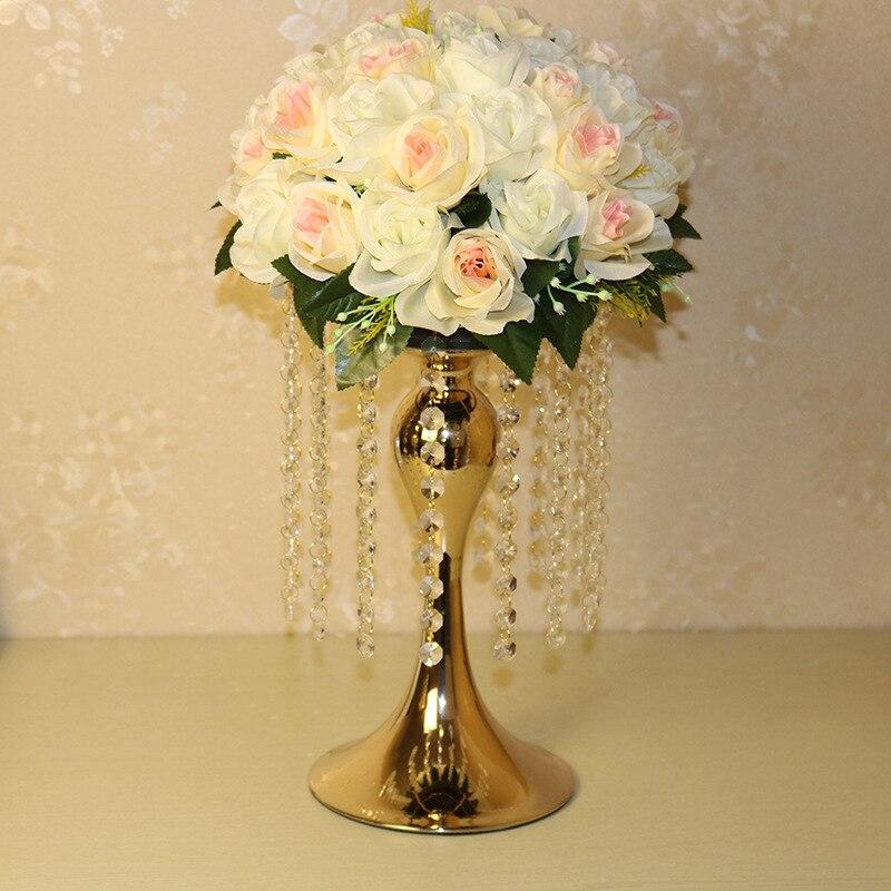 Us 3200 34 Cm Hoch Gold Hochzeit Blumenständer Tabellenmittel In Vasen Aus Heim Und Garten Bei Aliexpress