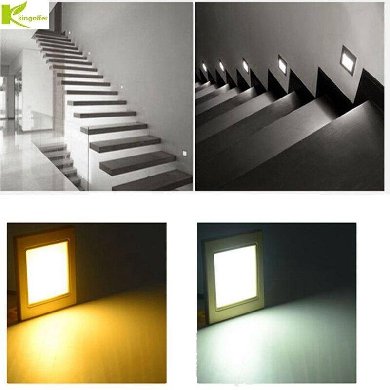 10pcs lot Indoor Radar Induction Sensor Led Stair Corner Light Infrared Human Body Lamp Steps in