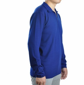 Image 2 - Mens 100% Merino Wool Long Sleeve T Shirt Base Layer Jersey Knit Lightweight 1/4 YKK Zip Flat Lock Seams