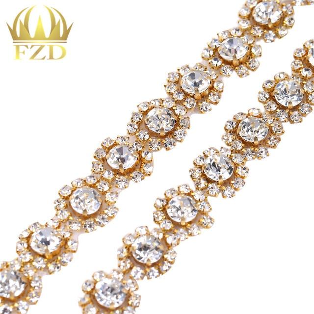 FANGZHIDI DIY Iron On USA Rhinestone Crystal Sashes Applique silver Glasses  for Wedding Dress Bridal Trims 557ccaf253f4