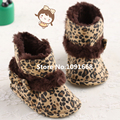 New! Fashion Baby Shoes Leopard Print Cotton Soft Sole Skid Proof Cute Kids Girl Toddler Snow Boots First Walkers Fit 0-18 Month