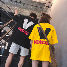 2019 Spring and summer new style Korean version of the couple Loose and comfortable round neck large size T-shirt цена